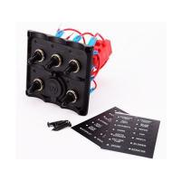 Buy cheap Marine Electric Blue LED Toggle Switch Panel 5 Gang with Pow from wholesalers