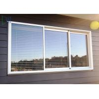 Buy cheap Double Glazed Glass Aluminium Three Track Sliding Window With Mosquito Net / Blinds from wholesalers