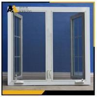 Buy cheap Wood Grain UPVC Casement Window with Integral Magnet Operated Rolling Shutter from wholesalers