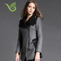 Buy cheap Women Coats Fashion long trench women coat long sleeve lapel collar from wholesalers