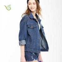 Buy cheap Women Coats 2016 Latest Arrivel Printing Denim Jacket for Girls from wholesalers