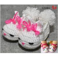 Buy cheap Original & Crative 12 colors 0-1 Age baby crochet knitting wool baby Unisex baby shoes from wholesalers