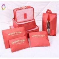 Buy cheap 7 PCS Travel foldable clothes storage receive bag in bag zipper organizer bag from wholesalers