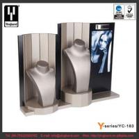 Buy cheap Latest Display Stand Two Mannequin Necklace Display Bust Stand PU MDF Jewelry Display Set from wholesalers