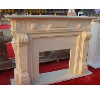 Buy cheap European Yellow Sandstone Fireplace Mantel For Home from wholesalers