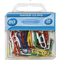 Buy cheap Vinyl coated paper clips ,assorted colors in plastic box from wholesalers