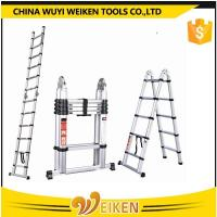 Buy cheap 1.6m+1.6m, 5 step+5 step, 3.2m aluminum double side telescopic ladder from Wholesalers