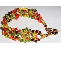 Buy cheap Crystal Autumn Leaves by The Bead Doodler from wholesalers