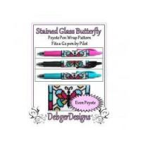 Buy cheap Stained Glass Butterfly-Peyote Pen Wrap by Debger Designs from wholesalers