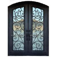 Buy cheap Steel gate Wrought Iron Door Eyebrow Doule steel Door from wholesalers