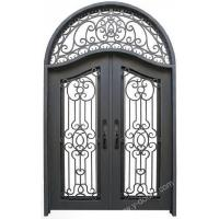 Buy cheap Wrought iron door Eyebrow arch Hand forged wrought iron Transom double door SY-DR-M6013-RTEP from wholesalers