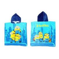 Buy cheap Cute Minions Boys Hooded Beach Towels With 100% Velour Cotton Fabric from wholesalers