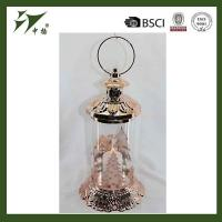 China Hot sell hanging lantern unique metal LED light candle holder on sale