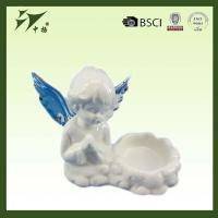 Buy cheap Porcelain religious angel statue, praying angel figure with candle holder from wholesalers