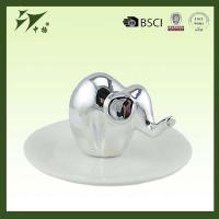 Buy cheap White Ceramic Elephant Ring Holder Jewelry Holder from wholesalers