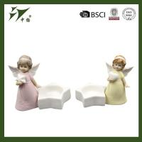 Buy cheap Wholesale porcelain angel figurine with tealight candle holder from wholesalers