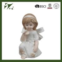 Buy cheap decoration gray crafts figurines porcelain little angel from wholesalers