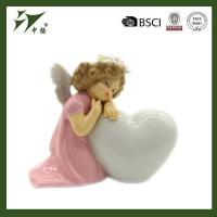 Buy cheap Hand painted porcelain angel figurines with heart from wholesalers