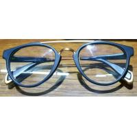 Buy cheap 2017 Retro Double Metal Bridge Acetate Eyeglass Frames Unisex from wholesalers
