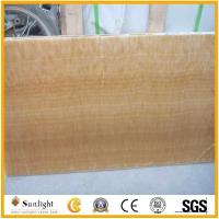 Buy cheap yellow onyx slabs for wall decoration from wholesalers