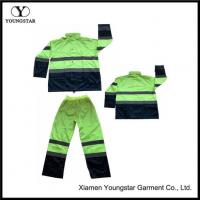 Buy cheap Hi Vis Safty Jackets Pants Workwear Mens Reflective Rain Suit from wholesalers