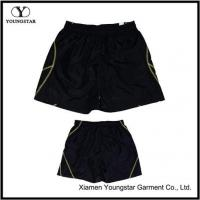 Buy cheap Mens Black Lined Microfiber Sports Summer Shorts For Men from wholesalers
