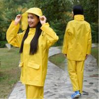 Buy cheap Yellow Blue Polyester Unisex Rain Suit Rains Clothing Ladies Raincoats from wholesalers