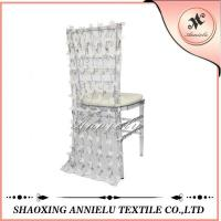 Buy cheap Chiffon Flower Chair Cover ANNIELU15-CC110 from wholesalers