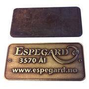 Buy cheap VT 1.2Inch Custom Engraved Metal Plates from wholesalers