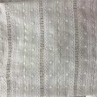 Buy cheap 100% Cotton Broderie Anglaise White Embroidered Eyelet Cotton Fabric product