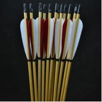 Buy cheap Traditional Archery Arrows with red and white Turkey Fletchings for archery supplies from wholesalers