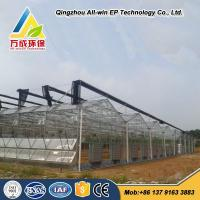 Buy cheap Low cost hydroponics agricultural commercial glass greenhouse for vegetable from wholesalers