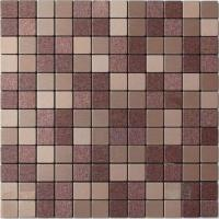 Buy cheap Light Purple Beige Solid Face Metallic Mosaic Tiles Self Adhesive from wholesalers