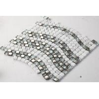 Buy cheap Ice Crack Glass Metal Mosaic Bathroom Backsplash Tile Special Chip Size from wholesalers