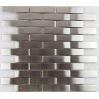 3d Arch Stainless Steel Mosaic Tile Backsplash , Stainless Steel Kitchen Tiles 8mm Thick