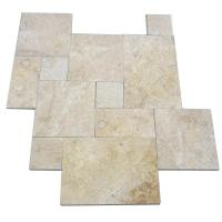 Buy cheap Honed Travertine Natural Slate Wall Tile , Rough Natural Stone Bathroom Tiles 12 X 6 from wholesalers