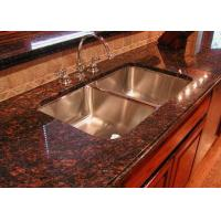 Buy cheap Modern Brown Granite Slab Countertops Kitchen Cabinet Full Bullnose Edging product