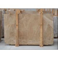 Light Cream Engineered Stone Countertop , Polished Marble Tile Kitchen Countertops