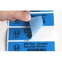 Buy cheap Dark Object Non Residue Security Labels / Anti Tampering Tape Full Color from wholesalers
