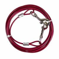 Buy cheap Petphabet Heavy Duty Tie Out Cable for Medium Size Dogs up to 50 Pounds, 20 Feet Long, Magenta from wholesalers