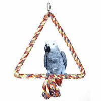 Buy cheap KinTor Medium Triangle Rope Swing Bird TOY Parrot Cage Toys Cages Conure African Grey from wholesalers