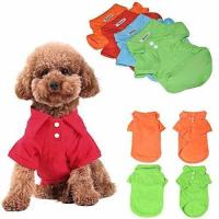 Buy cheap Large - KINGMAS 4pcs Dog Shirts Pet Puppy Polo T-Shirt Clothes Outfit Apparel Coats Tops from wholesalers