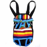 Buy cheap Cosmos Small Size Colorful Strip Pattern Pet Dog Legs Out Front Carrier Bag from wholesalers