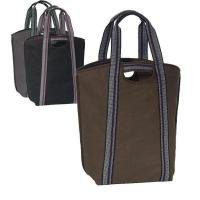 Buy cheap Carryall Cotton Canvas Tote Bag with Cell Phone Pockets (CLOSEOUT) from wholesalers