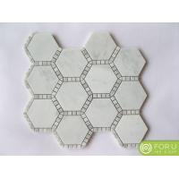 Buy cheap Florentine Pearl Carrara White Marble Mosaic Tile For Bathroom And Floor Tile And Kitchen Bachsplash from Wholesalers