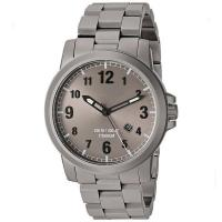Buy cheap High End Leather Band Dive Grey Tone Titanium Mens Wrist Watch from wholesalers