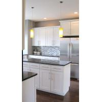 Buy cheap White Kitchen Cabinets With Grey Countertops from wholesalers