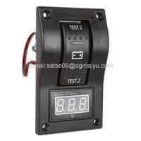 Buy cheap Marine Carling Boat 20A 12V RV Voltmeter LED Dual Battery Test Panel Rocker Switch on-off-on from wholesalers