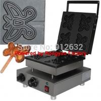 Buy cheap waffle iron stainless steel butterfly waffle maker electric waffle machine snack machine from wholesalers
