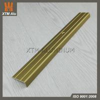 Buy cheap Gold / Silver Color Anodized Aluminium Stair Nosing/Tile Trim from wholesalers